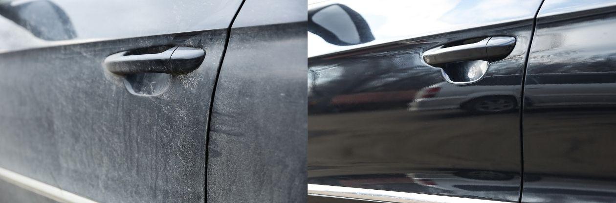 Przed i po przygotowaniu auta do sprzedaży
