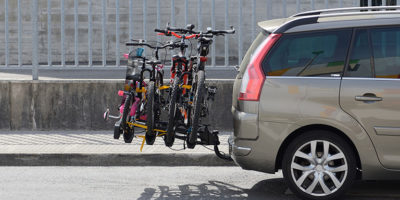 Podróż samochodem z rowerami