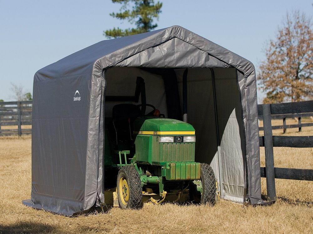 Duży namiot garażowy, który pomieści nawet ciągnik