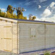 Garaż drewniany